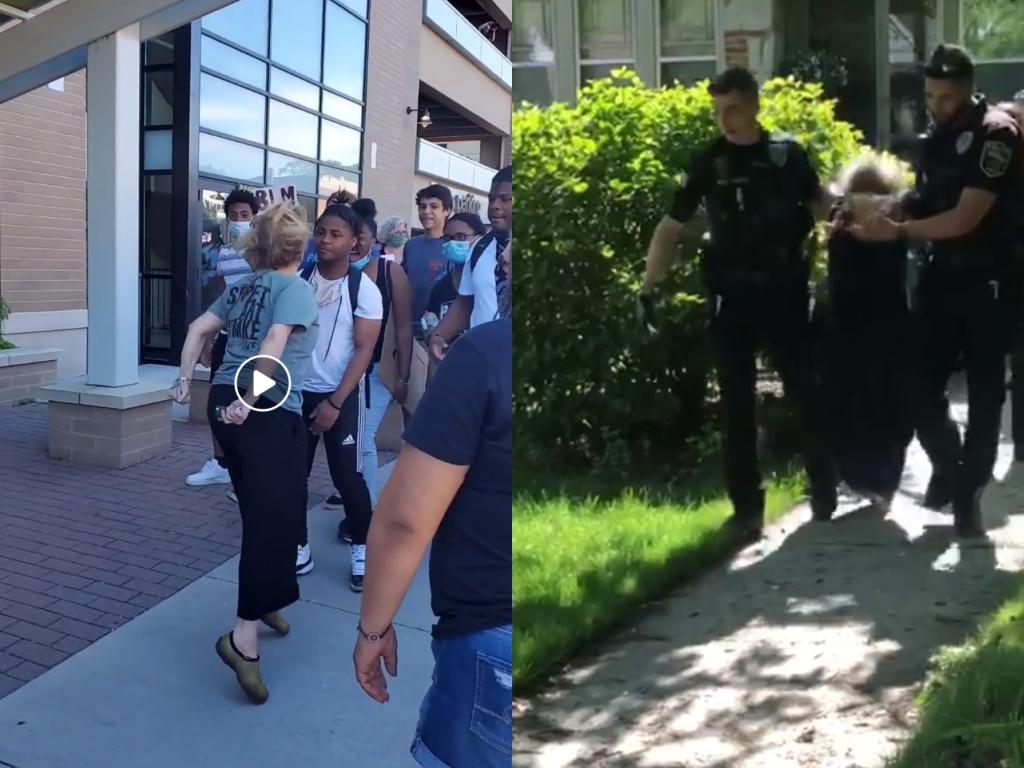 Stephanie Rapkin. Left - video still from Caress Gonazalez Ramirez, right - video still from Payton Hanrahan.