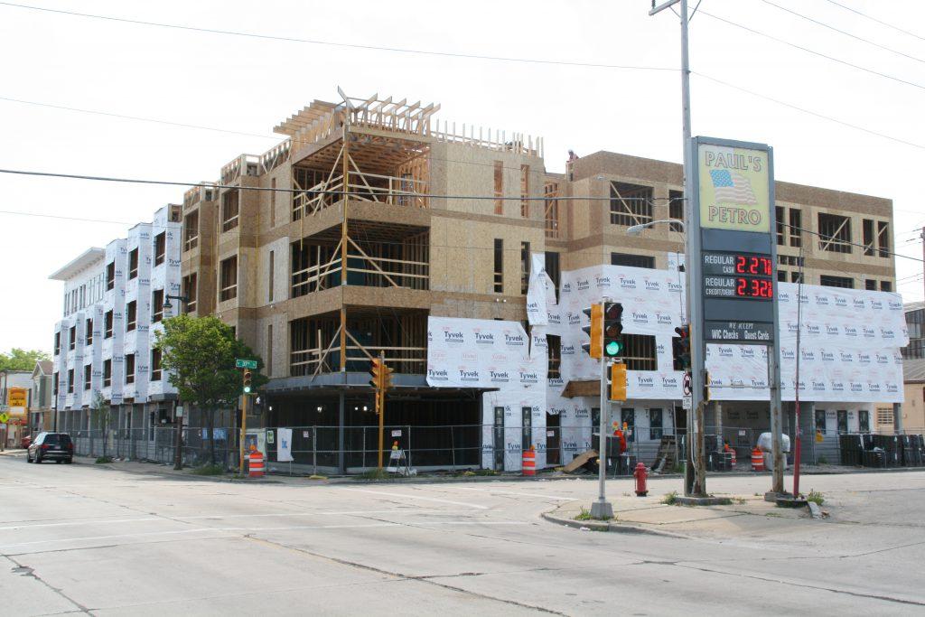 Villard Commons under construction at N. 37th St. and W. Villard Ave. Photo by Jeramey Jannene.