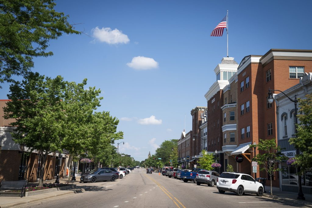 Downtown Beloit. Photo by Luther Wu/Wisconsin Examiner.