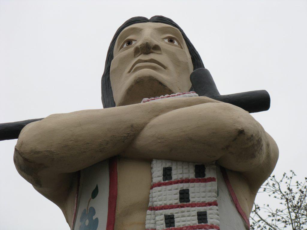 File photo of the statue of the Hiawatha Statue located in Riverside Park in La Crosse. Joe Passe via Flickr (CC-BY-SA) https://www.flickr.com/photos/98623843@N05/40428919705/in/photolist-pbU4R6-pt6Gm6-pbTe7L-pbTf5N-pt6HNz-pbThBb-prkQ9j-pt6DYR-pbU1MF-pto1Xg-pbTBmJ-pbTeUY-ptnVqK-pbTfyo-pbTxr9-prkQRb-ptmioJ-pbSHWk-pbTWhD-eSTfXn-eSTc9F-eSTfoe-eT5Dj1-eT5EJA-eT5E5W-eT5Dvs-eT5Bds-eT5D8A-eT5B1o-eSTb66-eT5BZy-eT5CYo-eSTbSD-eSTe1F-eT5CB7-eT5BAw-eT5CMy-eSTd3v-eT5zZ9-eSTdqV-eSTdQp-eSTaRD-eT5AQ7-eT5yYf-fd4L1D-4VXGWh-24AyM3e-24AyMiK-5tmXuk-35kwat https://creativecommons.org/licenses/by-sa/2.0/