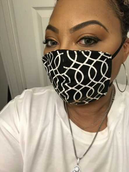 Regenia Henderson is taking custom orders for masks for those wishing to add embellishments. Photo provided by Regenia Henderson/NNS.