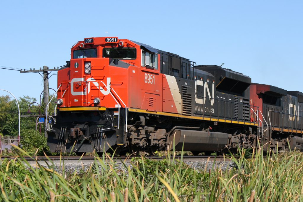 A pair of Canadian National locomotives. Image by Dan from PQ, Canada / CC BY-SA (https://creativecommons.org/licenses/by-sa/2.0)