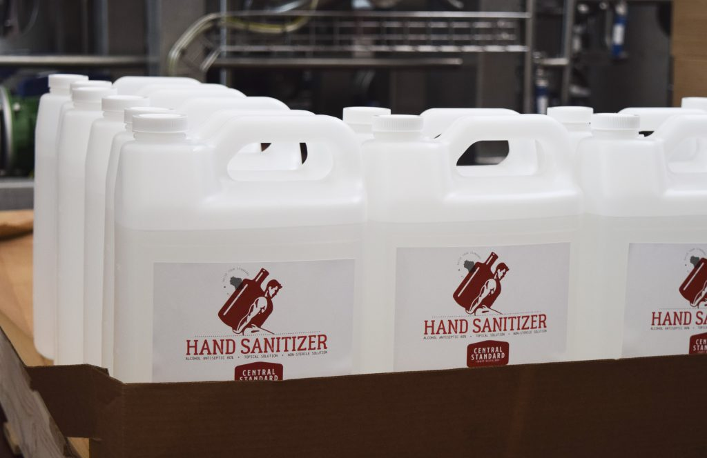 Central Standard manufactures sanitizers to help businesses coast-to-coast. Photo courtesy of Central Standard.