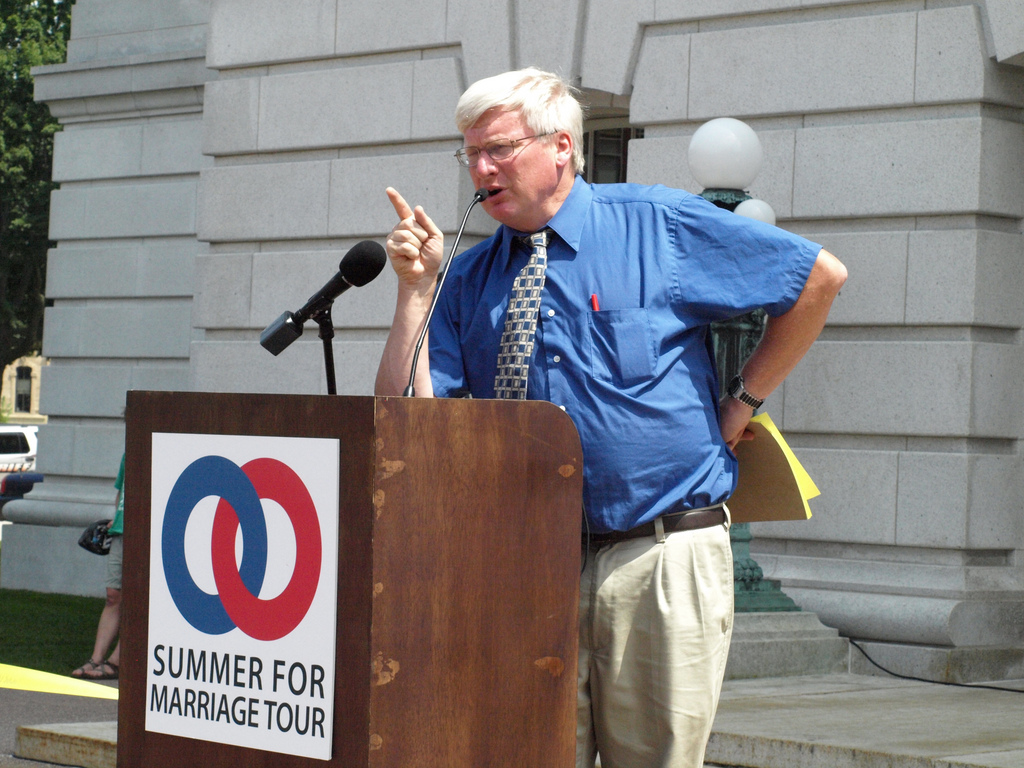 In his previous position as state senator, Glenn Grothman scolds protesters. File photo by WisPolitics.com / CC BY-SA (https://creativecommons.org/licenses/by-sa/2.0)