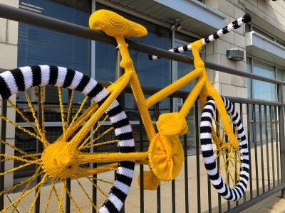 Meet Martha Lund, the Bay View Yarn Bombing Artist