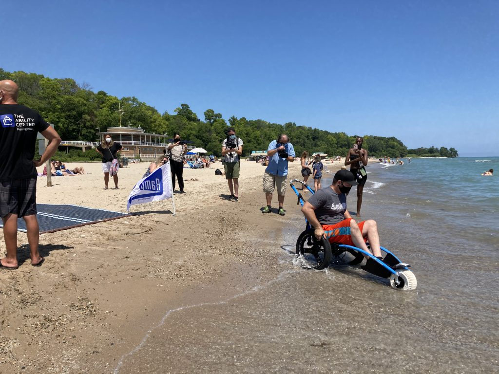 Accessibility improvements come to Bradford Beach. Photo courtesy of Milwaukee County.
