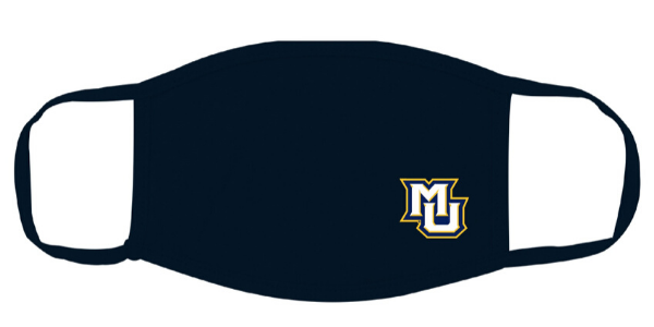 Marquette University facemask. Photo courtesy of Marquette University.