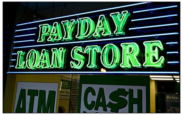 Payday loans. Photo by Aliman Senai / CC BY-SA (https://creativecommons.org/licenses/by-sa/4.0).
