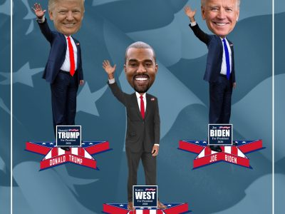 2020 Presidential Bobbleheads Featuring Trump, Biden and Kanye Unveiled