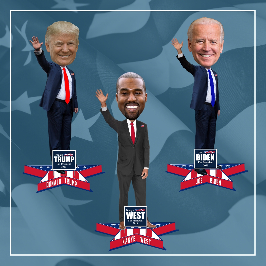2020 Presidential Bobbleheads Featuring Trump Biden And Kanye Unveiled Urban Milwaukee