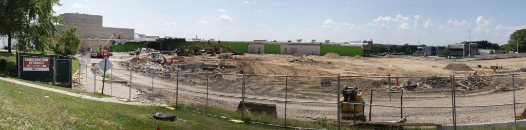 The site where the planned Lincoln Academy will be located at the former Beloit Mall, now the Eclipse Center, on land donated by Hendricks Commercial Properties. Photo by Luther Wu/Wisconsin Examiner.