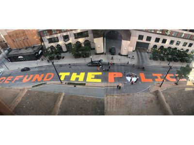 "City Removing ""Defund the Police"" Mural Friday"