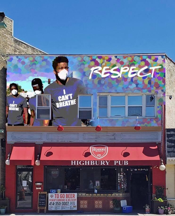 The Highbury Pub mural. Design by Jeff Redmon.