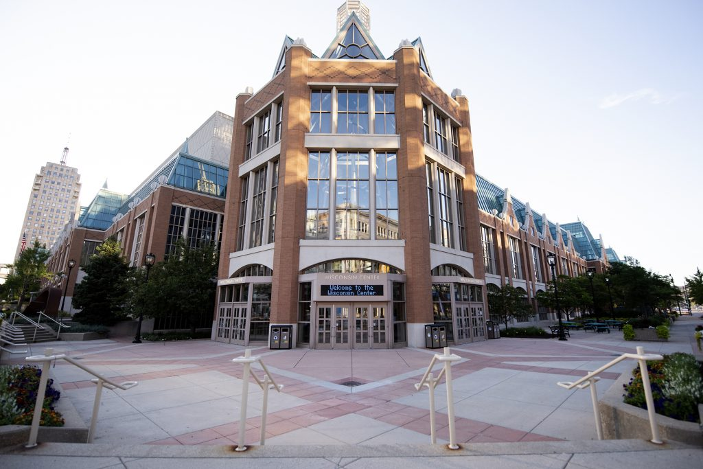 The Wisconsin Center will host the remaining Milwaukee portion of the now mostly virtual DNC. Angela Major/WPR