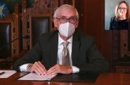 Gov. Tony Evers addresses the public during a Department of Health Services media briefing on Aug. 13, 2020. Department of Health Services via YouTube