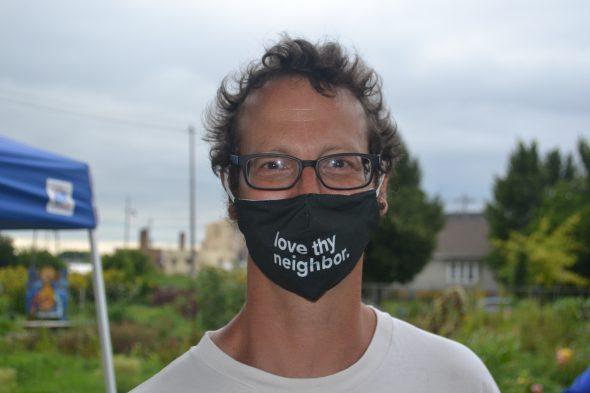 Progressive evangelical writer and activist Shane Claiborne. Photo by Erik Gunn/Wisconsin Examiner.