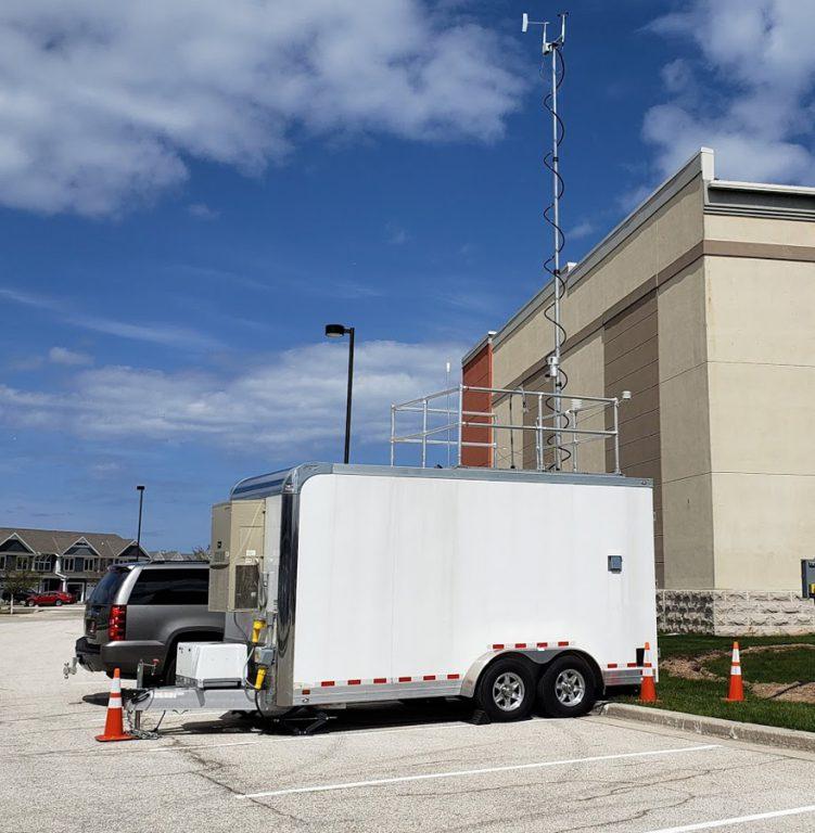 DNR's Mobile Air Monitoring Lab (MAML) stationed along the Lake Michigan shoreline in Sheboygan County. / Photo Credit: Wisconsin DNR