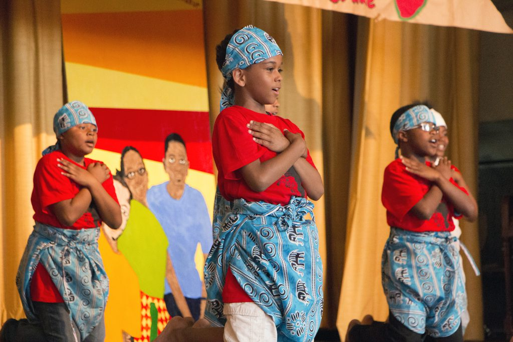 MPS' equity guidebook includes resources on how art can be a gateway to culturally responsive conversations. In this 2014 photo, MPS students participate in a special program taught by Arts @ Large. Photo provided by Arts @ Large/NNS.