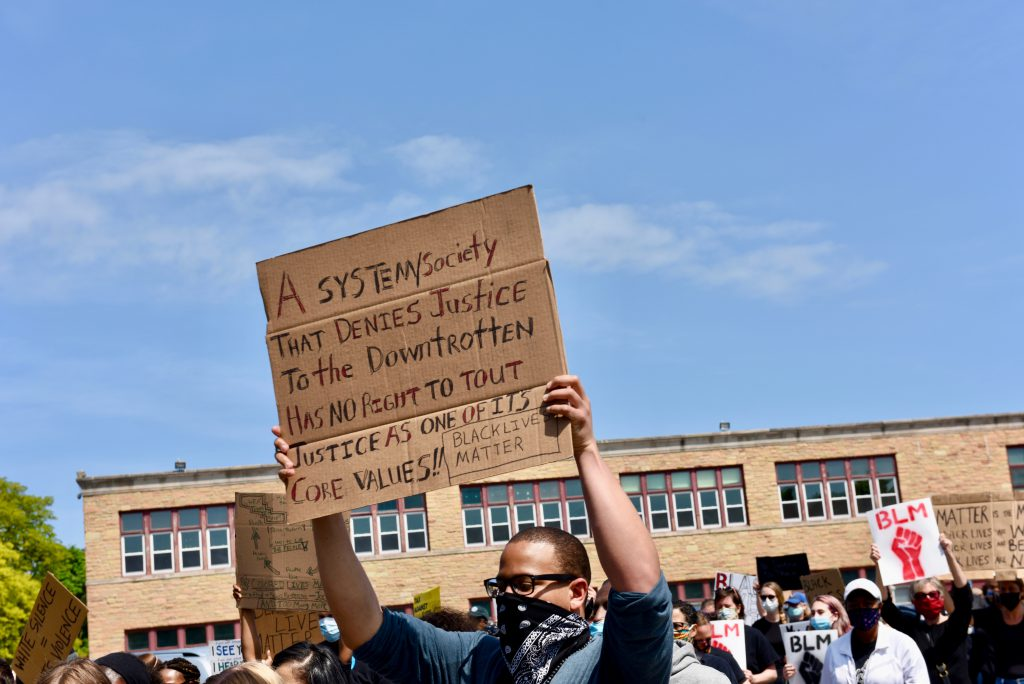 Liberate MKE's mission is to defund the police and use the money to invest in the community. Photo by Sue Vliet/NNS.