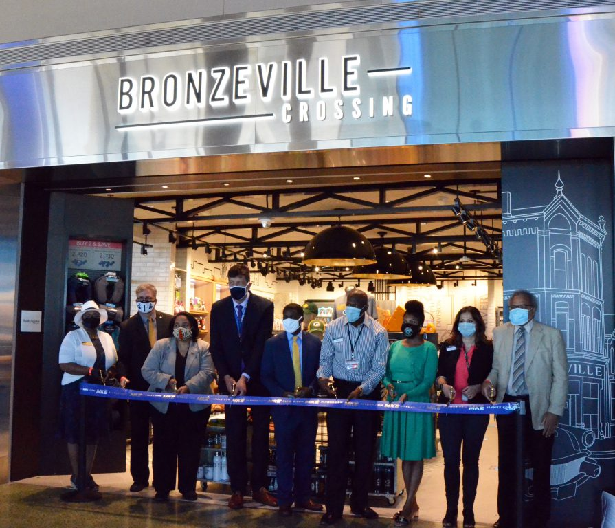 Ribbon cutting for Bronzeville Crossing Photo courtesy of Milwaukee Mitchell International Airport.