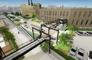 Crossroads Plaza at Schlitz Park. Rendering by RINKA.