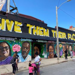 Mural honoring Black leaders on the building at 1334 W. Vliet St. Photo by Graham Kilmer.