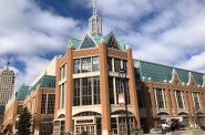 The Wisconsin Center in March 2020. Photo by Jeramey Jannene.