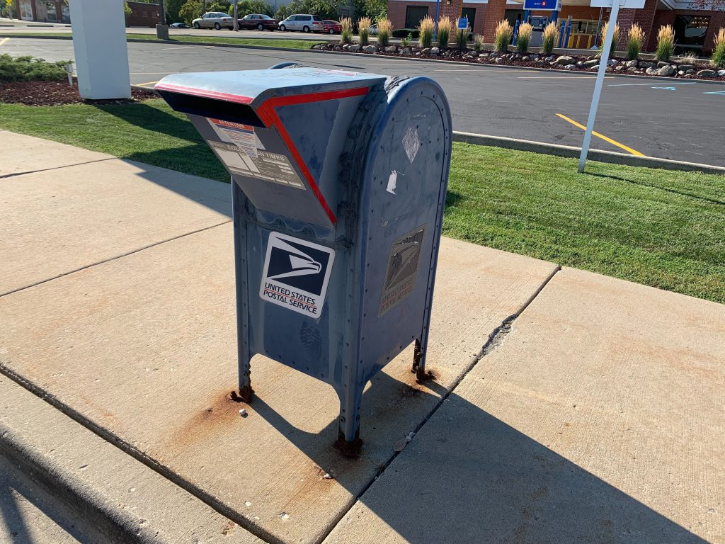 United States Postal Service mailbox. Photo by Jeramey Jannene.