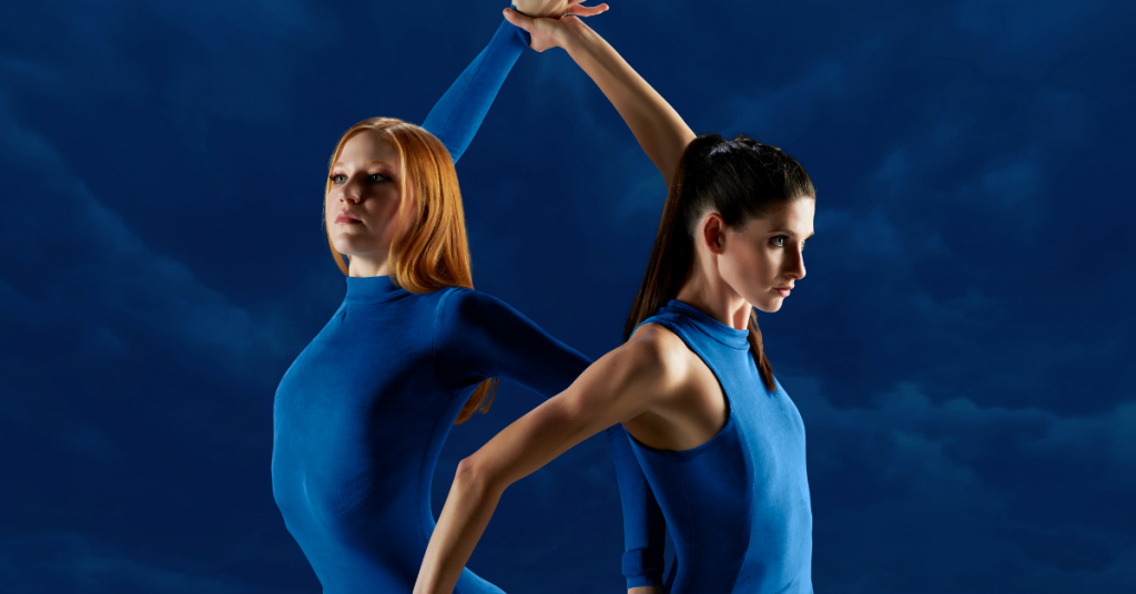 Milwaukee Ballet. Lizzie Tripp and Kristen Marshall. Photo by Eric Olson of Saturn Lounge/Milwaukee Ballet.