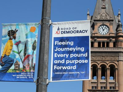 DNC-Timed Art Installation Covers Downtown