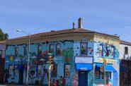 The east end of W. Lisbon Avenue at W. Walnut Street. Photo by Carl Baehr.
