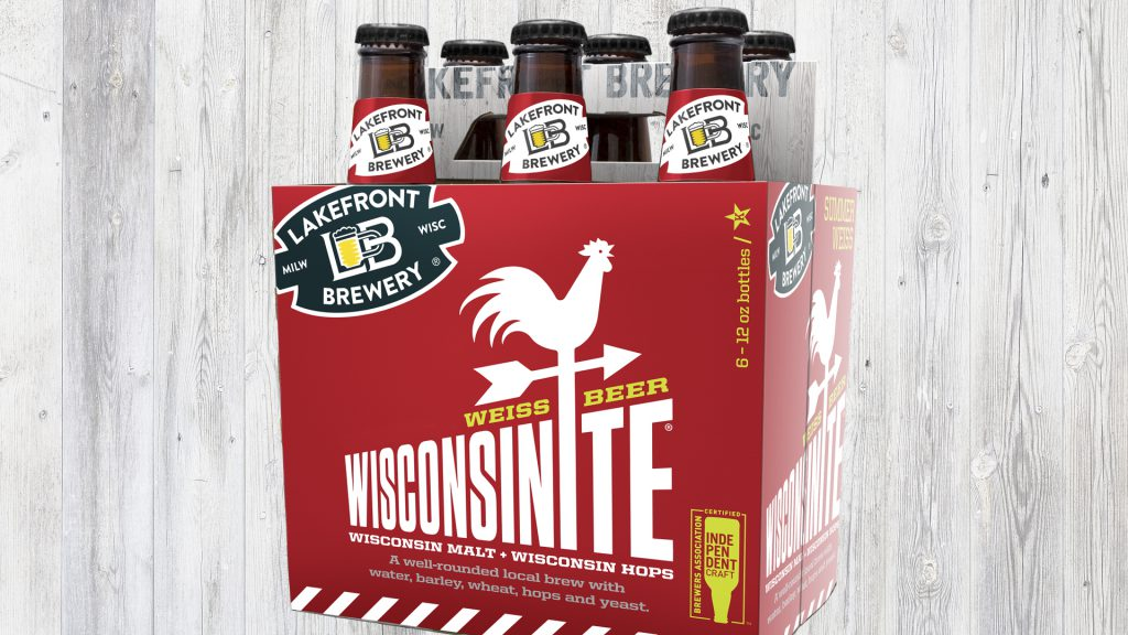 Wisconsinite Summer Weiss beer. Photo courtesy of Lakefront Brewery.