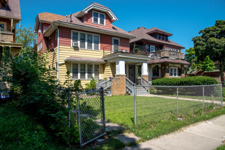 Wyconda Clayton's home in Milwaukee is seen on July 17. She does not want to leave her Sherman Park neighborhood apartment, but her landlords pressed on with an eviction, refusing to accept last-minute aid from the state. Photo by Will Cioci / Wisconsin Watch.