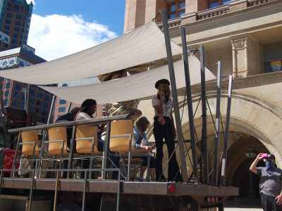 Pop-Up Poetry Protest Performs Downtown