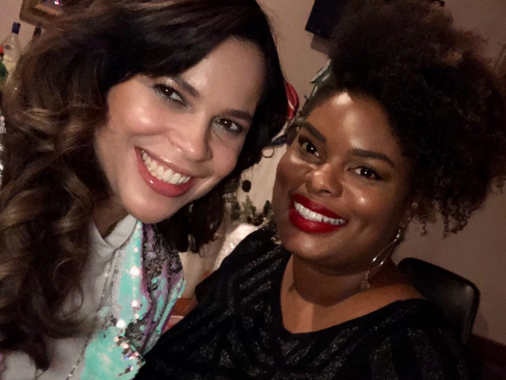 Jeanette Kowalik (left), City of Milwaukee commissioner of health, and Lilliann Paine, the Health Department's chief of staff, at a holiday party in 2019. The pair lead Milwaukee's public health response to coronavirus. Photo provided by Lilliann Paine/NNS.