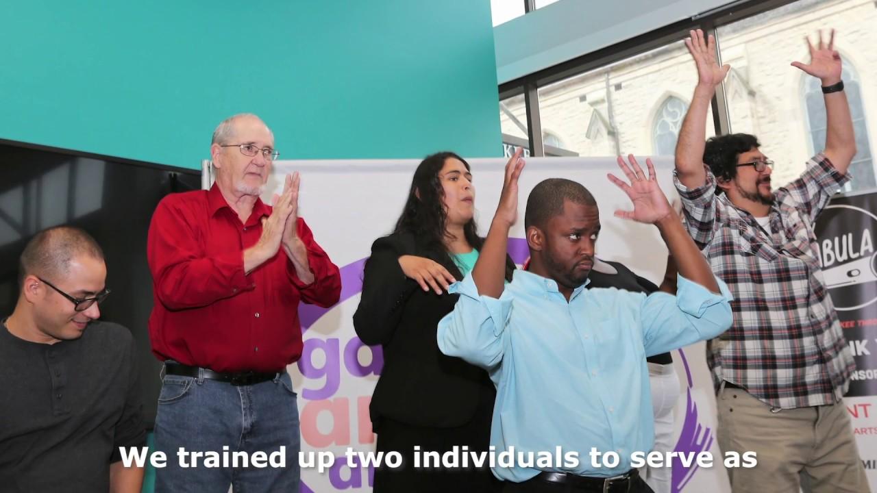 Ex Fabula's Deaf StorySlam. Photo courtesy of LISC Milwaukee.