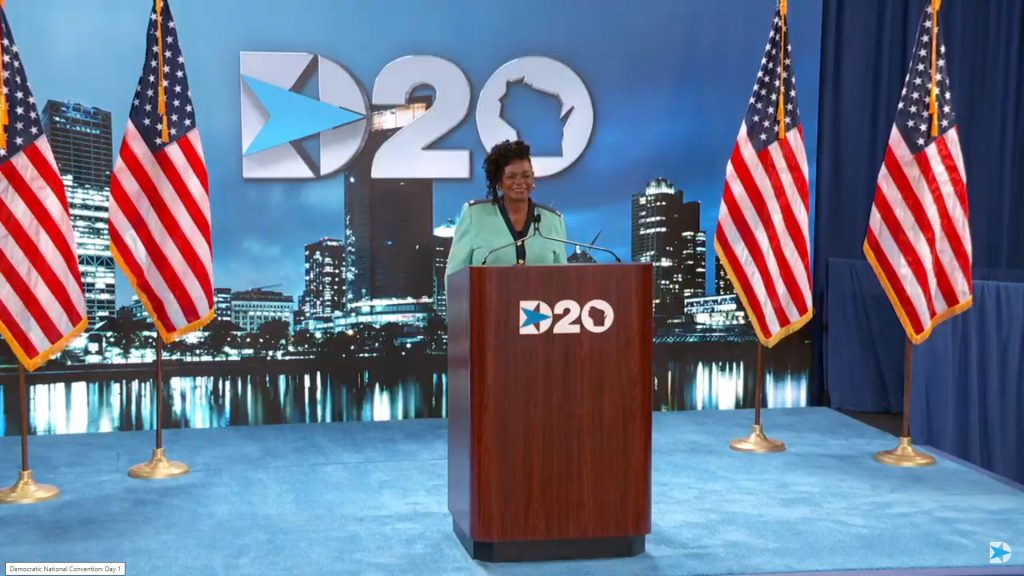 Congresswoman Gwen Moore. Image from DNC live feed.