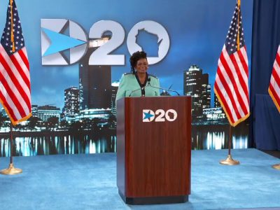 DNC: Gwen Moore Gives 90 Second Convention Speech