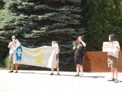 Faculty, Students Protest at MU President's House