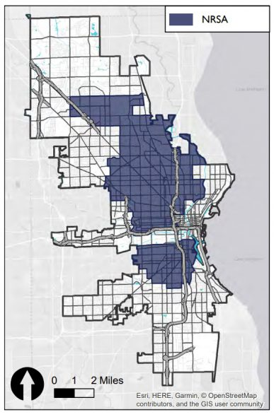 Milwaukee NRSA map. Image from the City of Milwaukee.