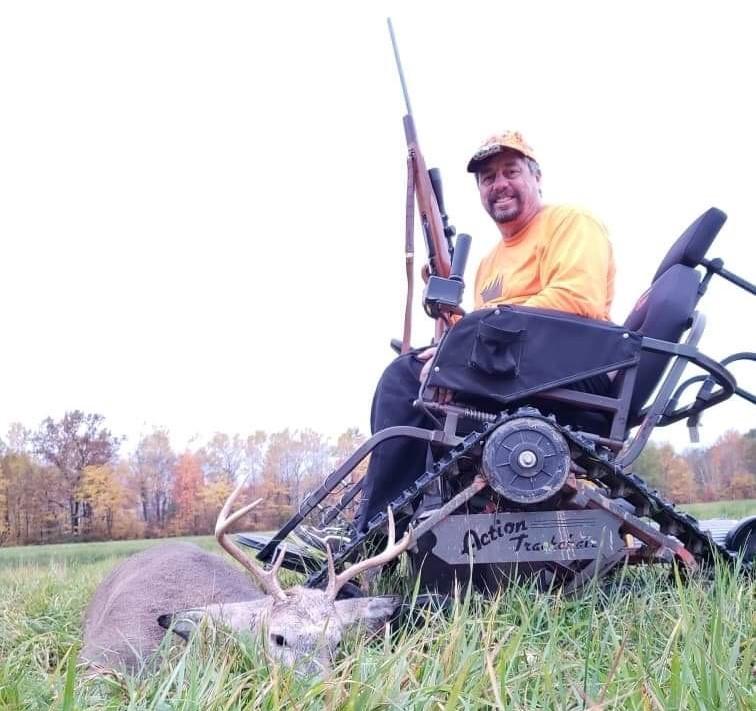 Hunter John Martinson poses after a successful hunt. / Photo Credit: John Martinson/DNR.