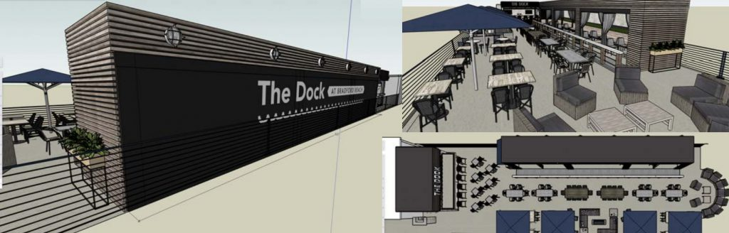The Dock at Bradford Beach plan. Rendering by Jackie Rosen.