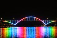 Hoan Bridge lights. Photo by Jeramey Jannene.