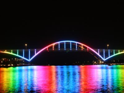 Hoan Bridge Lights Tested Before October 22nd Unveiling