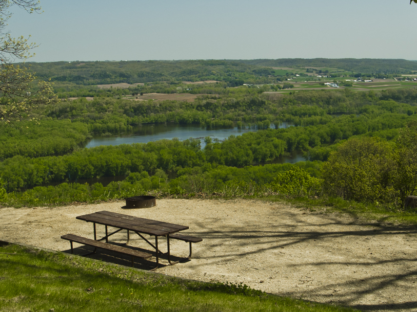 A campsite at Wyalusing State Park in western Wisconsin. Photo by Kenneth Casper (CC BY 2.0)