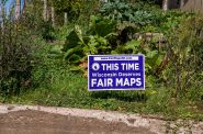 "A yard sign in Mellen, Wisconsin reads: ""This Time Wisconsin Deserves Fair Maps,"" paid for by the Fair Elections Project, FairMapsWI.com. The political sign supports redistricting legislation to reform gerrymandering. Wisconsin Fair Maps Coalition by Tony Webster (CC BY 2.0) https://creativecommons.org/licenses/by/2.0/"
