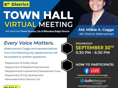 Virtual Town Hall Meeting to Focus on 2021 City Budget, City Services