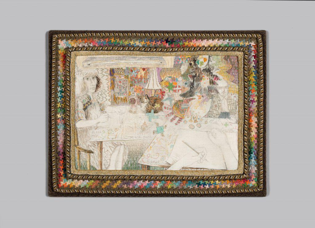 Renie Breskin Adams. Blank Page, Mental Buzz, 1985. Racine Art Museum, Gift of the Artist