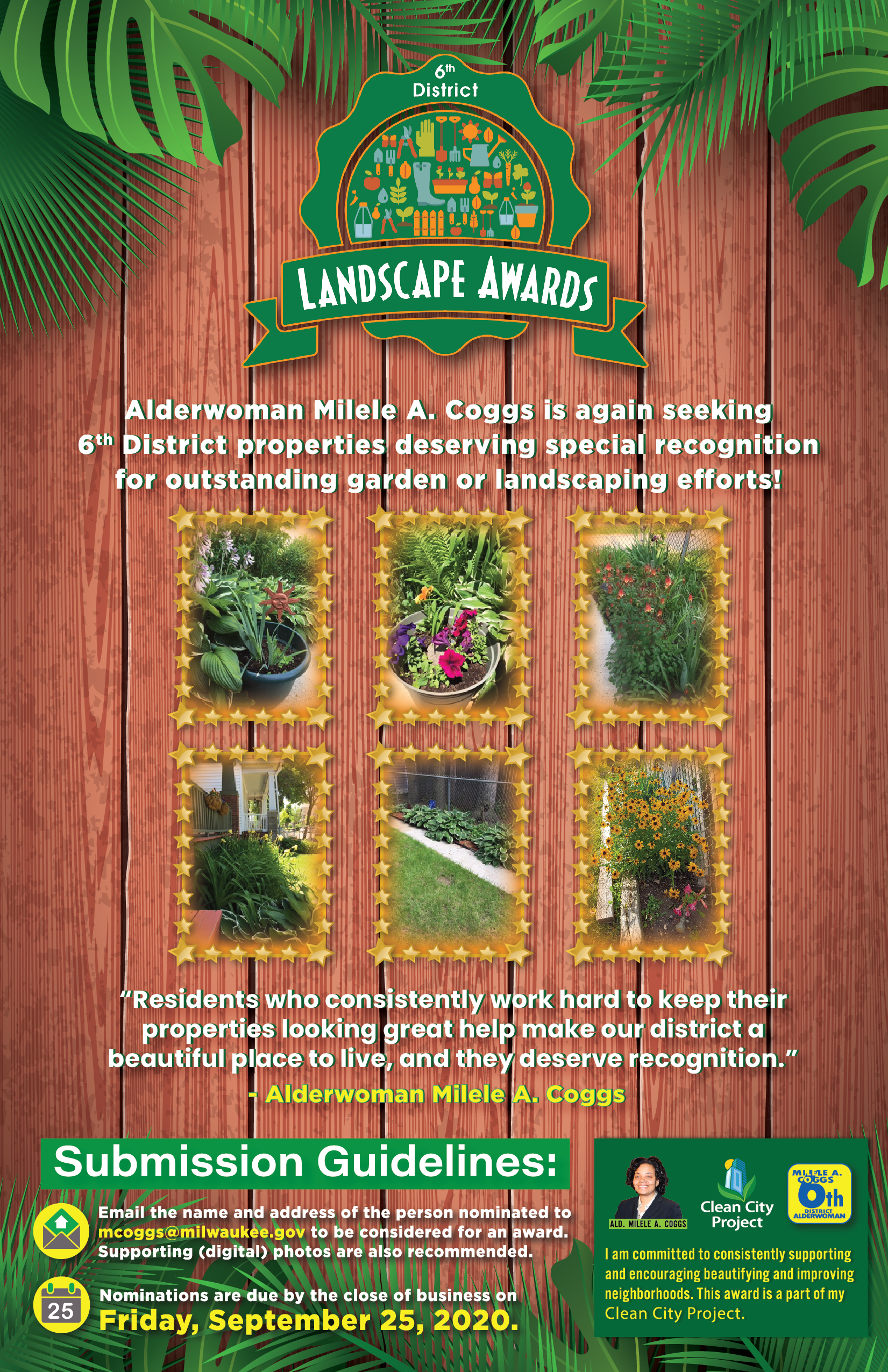 6th District Landscape Awards deadline fast approaching