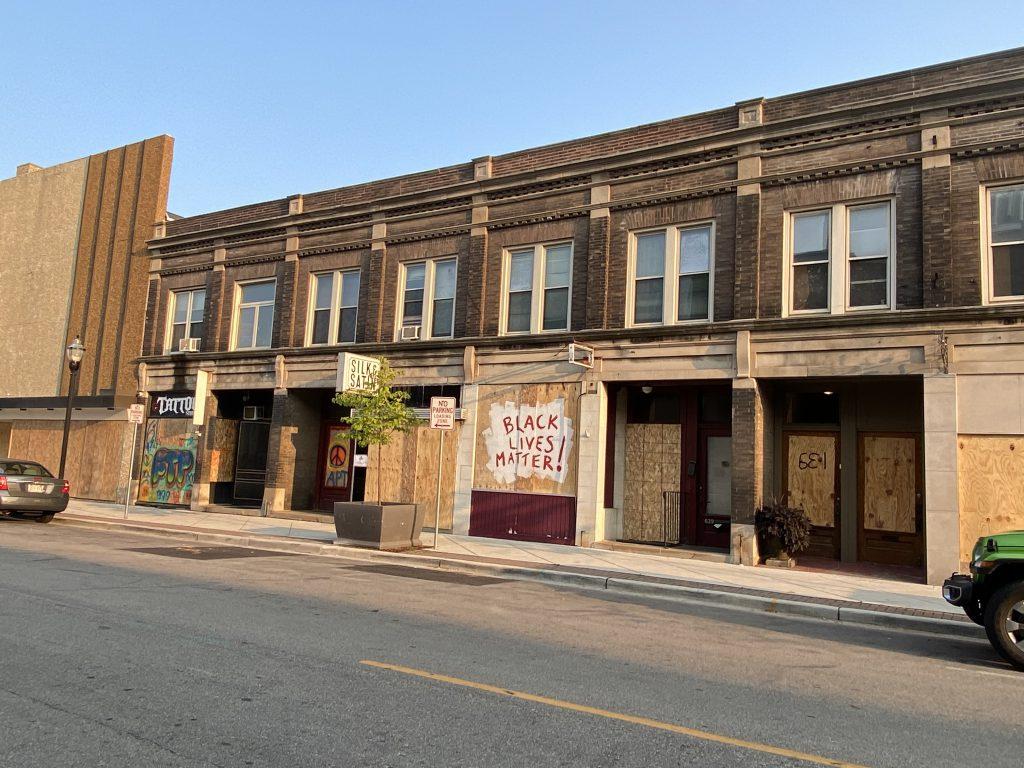 Ellen Ferwerda's shop in downtown Kenosha. Photo courtesy of Ellen Ferwerda/Wisconsin Examiner.
